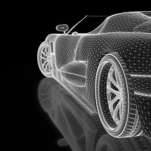 3D map of an electric car model