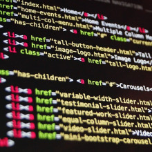 a computer screen full of computer code