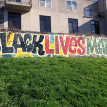 Graffiti saying Black Lives Matter