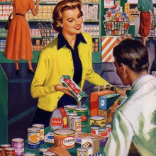 vintage shopping till image