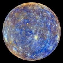 False colour view of Mercury
