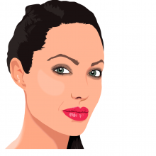 Angelina Jolie drawn in cartoon format