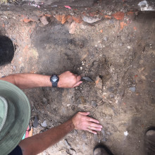 Archaeological excavation at Hougoumont Farm, Waterloo Battlefield Site