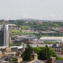 Blackburn town centre from Shear Brow area.