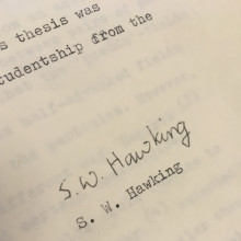 Stephen Hawking's PhD Thesis Acknowledgements Page