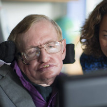 Intel's Lama Nachman works with Stephen Hawking on his speech system