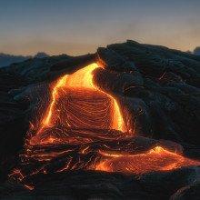 Lava field at Kilauea Volcano, Hawaii