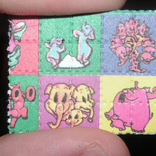 A blotter paper tab of LSD.