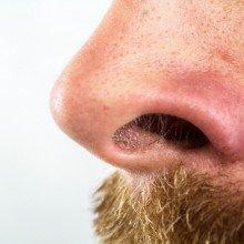 A man's nose.