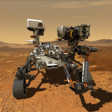 Artist's concept of the Perseverance Mars rover.