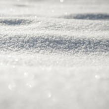 Close-up view of fresh snow.