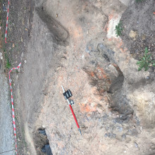 Excavations at Huogoumont Farm at the site of the Battle of Waterloo