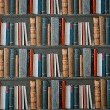 A bookshelf full of old books