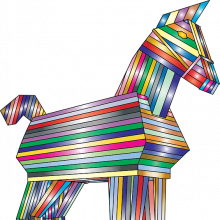 Cartoon Trojan Horse