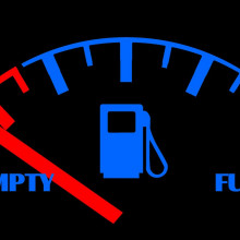 A fuel gauge for a car