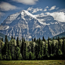 Mount Robson in Canada.