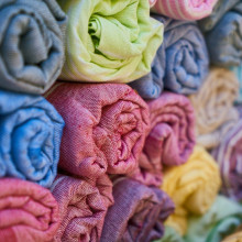 rolled up fabric