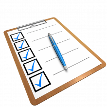 A checklist with all the boxes ticked