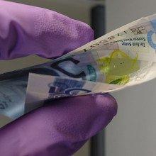 Laser on Banknote