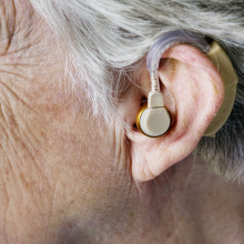 Hearing Aid in the ear