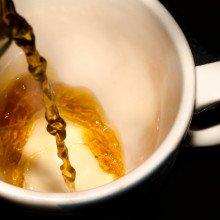 Pouring a mug of tea