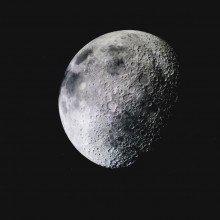 Moon in the night sky