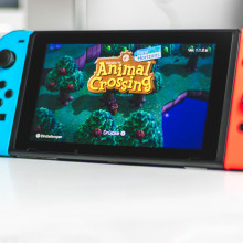 Animal Crossing being played on Nintendo Switch