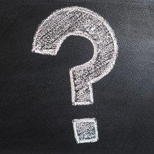 question mark on a blackboard