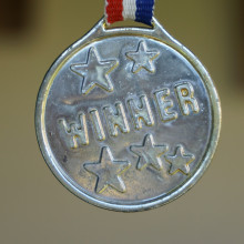 The winning medal