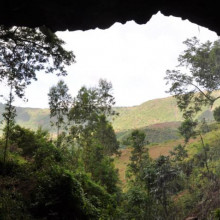 Mota cave is where the burial was located.
