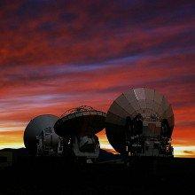 ALMA prototype-antennas at the ALMA test facility.