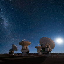 Four antennas of the Atacama Large Millimeter/submillimeter Array (ALMA)