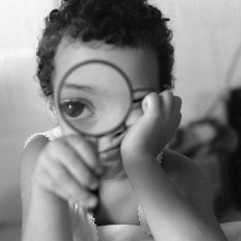 magnifying glass kid