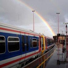 London train rainbow