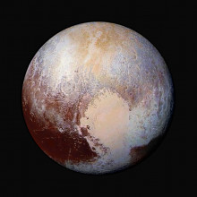 Pluto, in false colour