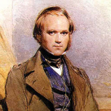 Water-colour portrait of Charles Darwin painted by George Richmond in the late 1830s.
