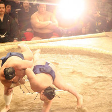 Flash on sumo wrestlers