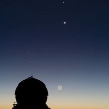 Conjunction of Moon and Venus