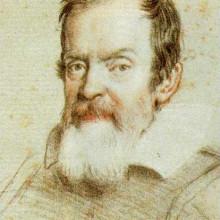 Galileo Galilei. Portrait in crayon by Leoni.