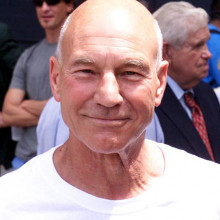 Patrick Stewart, the famous English actor, is bald