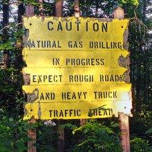 Drilling warning sign