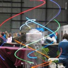 Spinning lights at Maker Faire 2008
