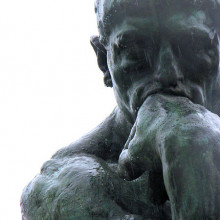 Rodin's \The Thinker\ - on display at the Rodin Museum.