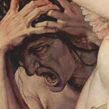 Close up from Bronzino's 'Allegory of the Triumph of Venus'