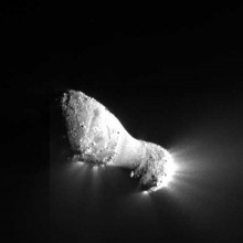 Comet Hartley 2, taken from the deep impact spacecraft as part of the EPOXI mission