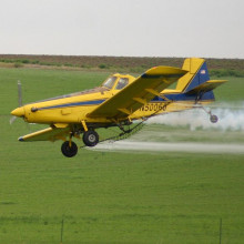 An 'air tractor' spraying crops