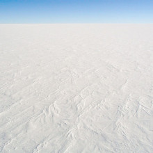 A photograph of the snow surface at Dome C Station, Antarctica