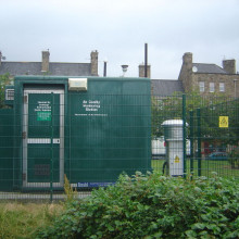 Station for measuring air quality in Edinburgh, Scotland