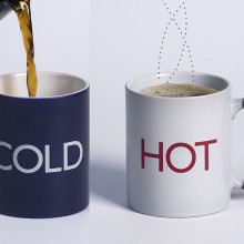 A temperature sensitive mug