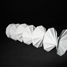 Origami spring invented by Jeff Beynon